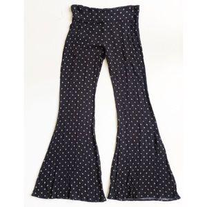 🔴 Lumiere Black Flare Leg Pull On Pants